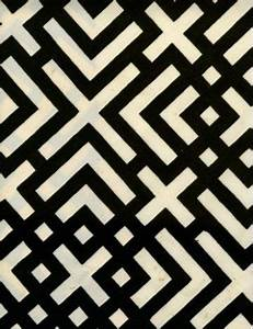 Geometric black and white pattern from Russell Busch set ...