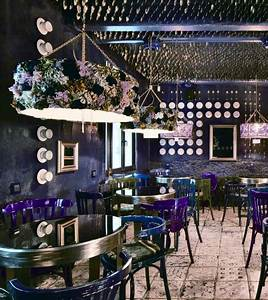 Purple, Blue and Black Cafe interior design 1 - Panda's House