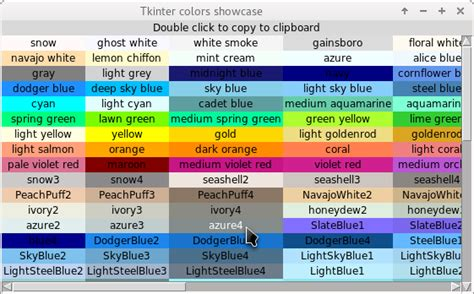 python color codes python colour chart for tkinter and tix stack overflow
