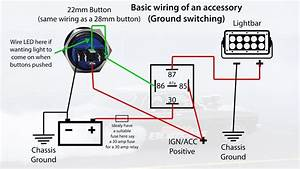 19mm 22mm Billet Automotive Buttons Wiring Diagram Video