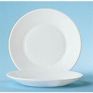 Assiette Plate Blanche : assiette plate ronde blanche 19 5cm en arcopal arcoroc ~ Teatrodelosmanantiales.com Idées de Décoration