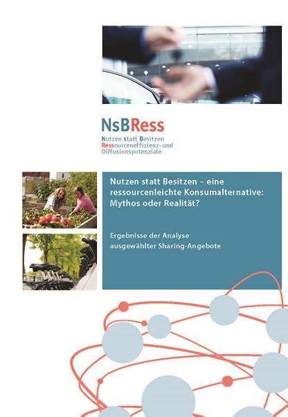 Economy Nutzen Statt Besitzen by Booklets Brosch 252 Ren Borderstep Institut