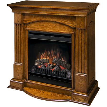 dimplex  compact electric fireplace golden oak