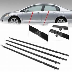Car Weatherstrip Seal Belt Outside Window Moulding Weather