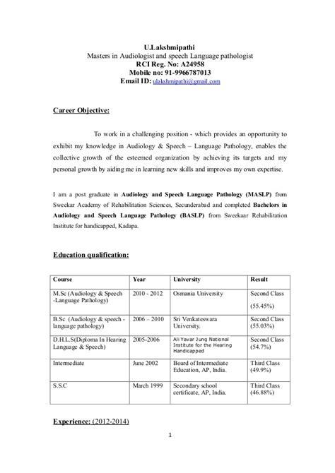 audiologist resume resume ideas