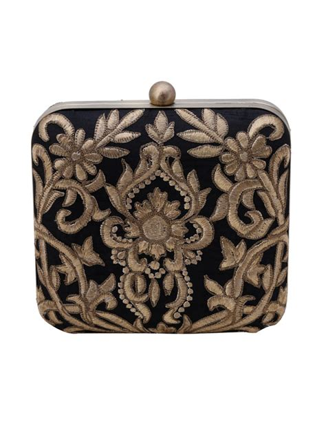 accessory design the purple sack baroque black clutch shop bags at