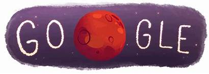 Mars Water Google Evidence Doodle Flowing Shortly