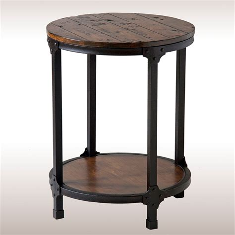 Round Black Kitchen Table Decor Rustic Round Accent Table