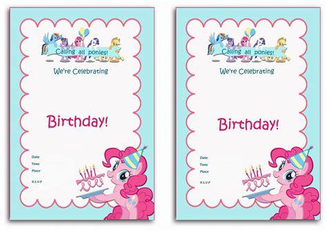 My Little Pony Birthday Invitations Birthday Printable