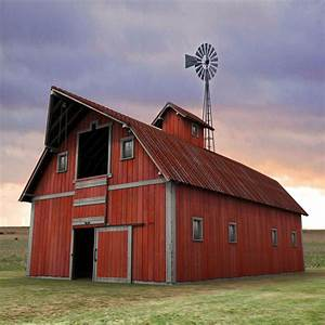 old farm red barn 3d 3ds With barn roof paint