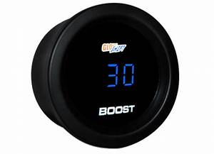 Glowshift Blue Digital Series Boost    Vacuum Gauge Sport