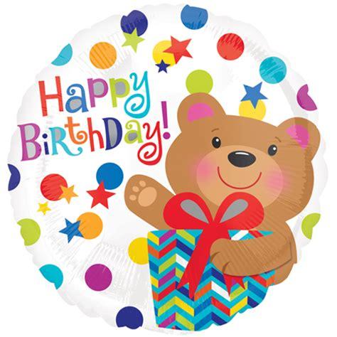 happy birthday bear gift standard foil balloon