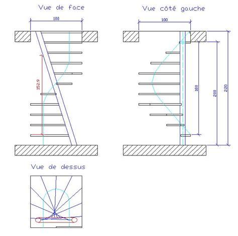 escalier 1m2