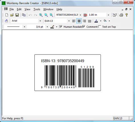 barcode labeling software monterey barcode creator