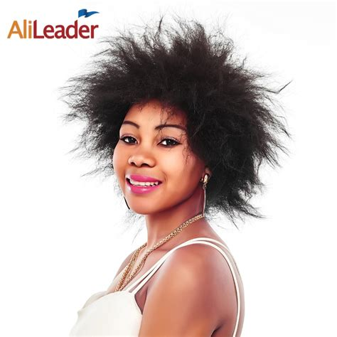 Alileader Products Short Synthetic Hair Kinky Afro Wigs