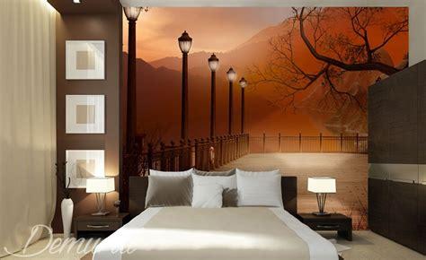 couleur tendance chambre adulte chambre à coucher avec vue papier peint pour le chambres
