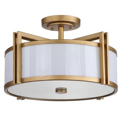 Safavieh Orb 3light Antique Gold Semiflush Mount Light