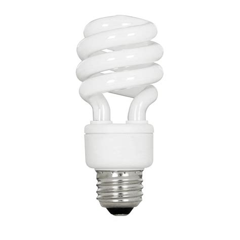 utilitech 2 pack 13 watt spiral medium base soft white