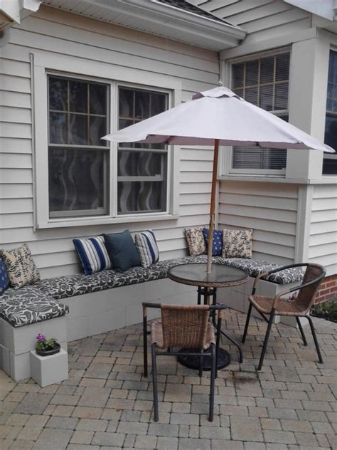 how to build a patio outdoor patio furniture covers diy cinder block bench in the garden creative ideas for