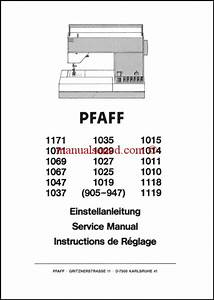 Pfaff Sewing Machine Service Manual 905