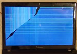 Broken Computer Screen Laptop