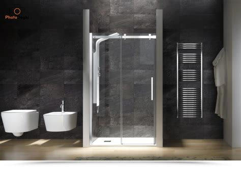 porta doccia nicchia scorrevole  cm cristallo