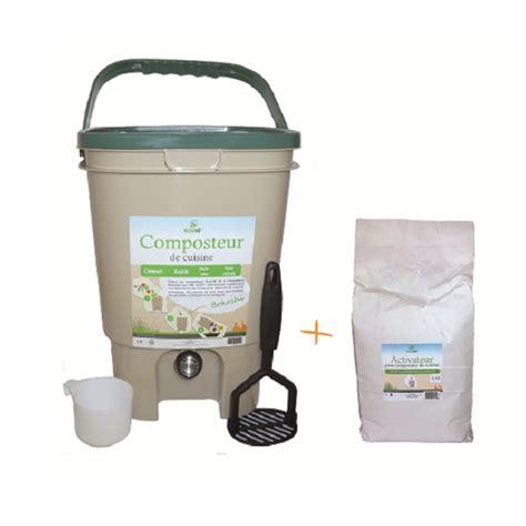 composteur de cuisine ecovi composteur de cuisine et activateur ecovi acheter sur greenweez