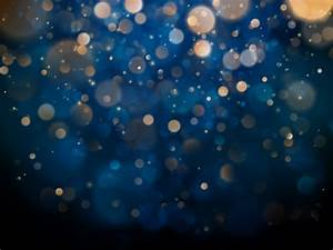 Blurred, Bokeh, Light, On, Dark, Blue, Background, Christmas, And, New, Year, Holidays, Template, Abstract