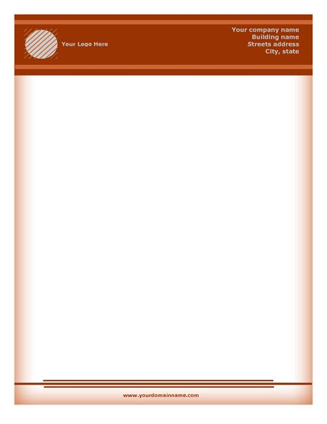 free stationery templates business letterhead templates free