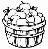 Barrel Coloring Apples Printable Pages Clipart Apple sketch template