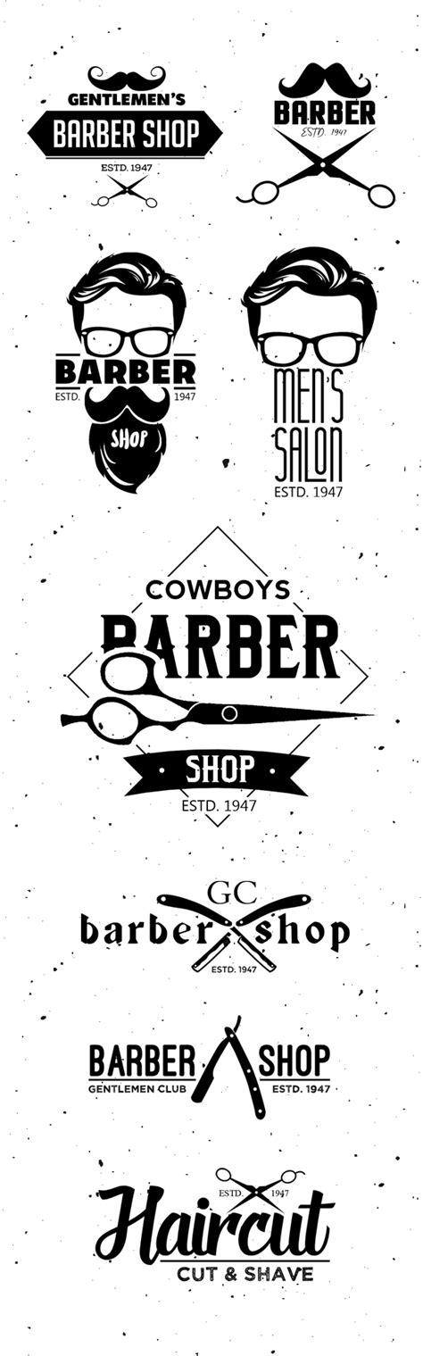 vintage barber shop logo templates psd freebies