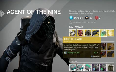 Destiny Xur Agent Nine Location Items For Week