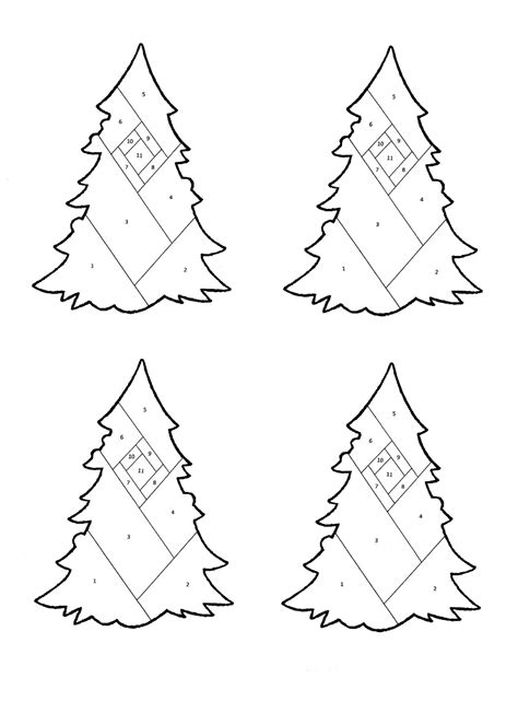 born doodler iris folding christmas tree pattern