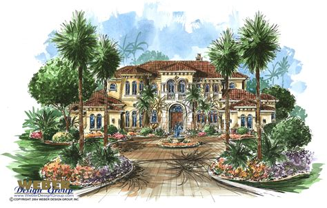 Luxury Mediterranean Dream Home Floor Plan