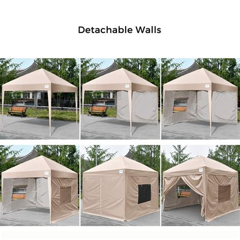 upgraded quictent privacy  ez pop  canopy tent party tent gazebo  mesh windows