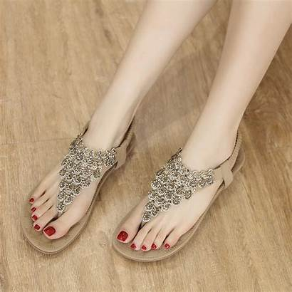 Sandals String Thong Flat Bead Bohemia Stylesimo