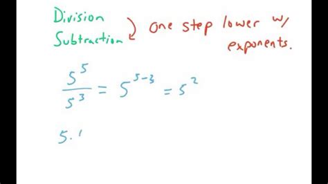 division properties of exponents practice worksheet