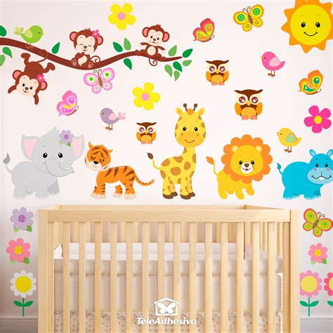 sticker mural enfant sticker mural enfant kit animaux de la jungle