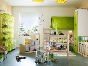 Ikea Bett Kinderzimmer : gr n als farbkonzept im kinderzimmer ~ Frokenaadalensverden.com Haus und Dekorationen