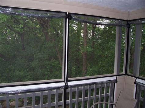 roll  pvc panels porch enclosures sliding patio screen door outdoor patio space