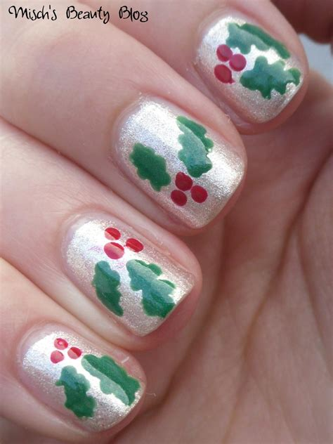 mischs beauty blog notd december st holly nails