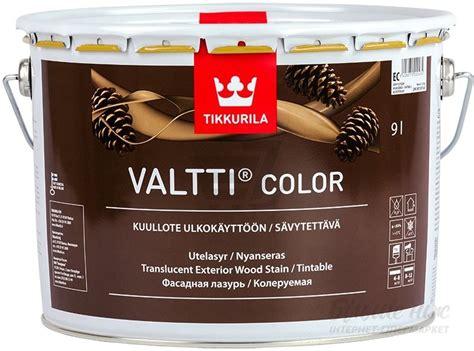 Tikkurila Valtti Color/Тиккурила Валтти Колор фасадная лазурь на масляной основе | Краски трейд