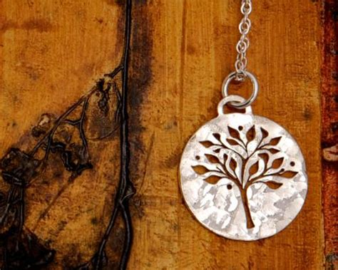 sterling silver  tree  life necklace efy tal jewelry