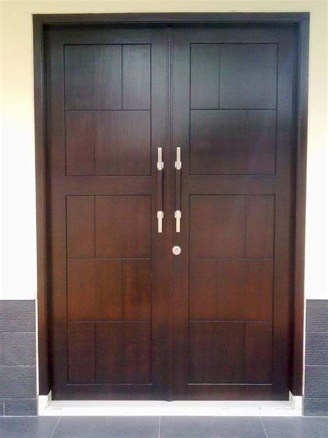 contoh desain model pintu rumah minimalis modern