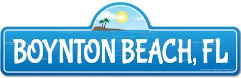 boynton fl florida beach street sign indooroutdoor