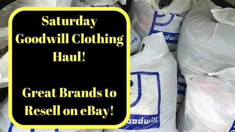 saturday goodwill clothing haul  resell  ebay great