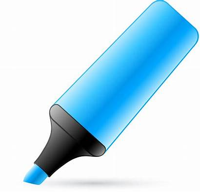 Marker Clipart Pen Transparent Clip Cliparts Highlighters