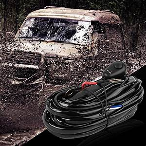 Led Light Bar Wiring Harness With Fuse Relay On  U0026 Off