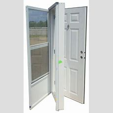 32x76 Steel Solid Door With Peephole Lh For Mobile Home