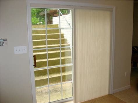 wood patio doors with built in blinds how to design a